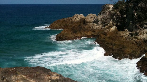 A turtle's playground ... the North Gorge on Stradbroke Island.
