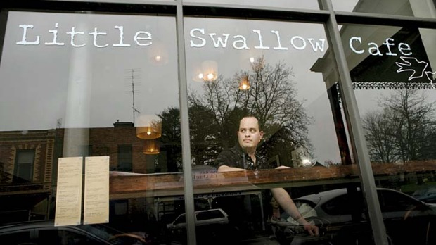 All tastes ... Little Swallow Cafe owner Steven Rogers.