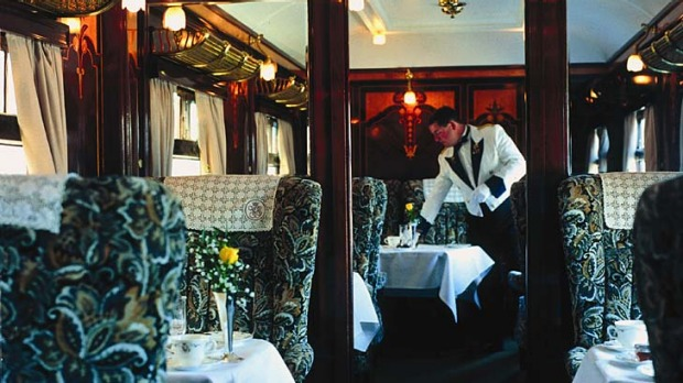 Golden age ... luxury lodgings in the British Pullman, which departs London's Victoria station.