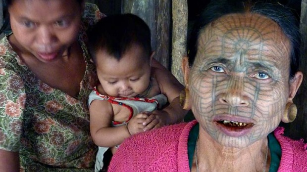 Ma Htwe is now among a smattering of women left alive who bear facial tattoos.