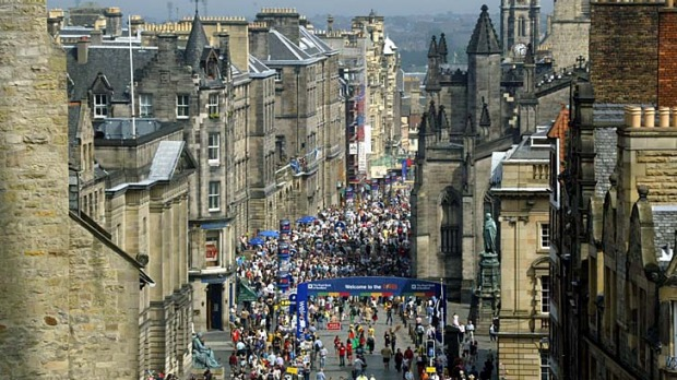 Buzzing ... Edinburgh's Royal Mile is packed during festival time.