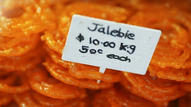 Hot and spicy ... golden-fried sweet jalebi.