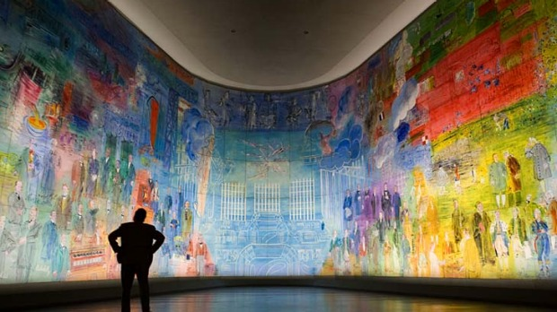 Magnificent mural ... Raoul Dufy's huge The Electricity Fairy in the Musee d'Art Moderne in the 16th district.