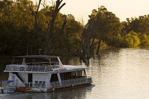 Adrift ... the picturesque Murray River.