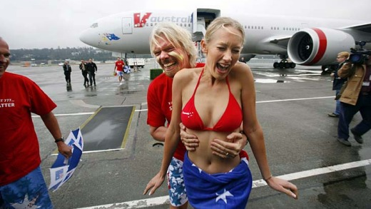 Sir Richard Branson's deal with Singapore Airlines meant Virgin Blue's international carrier V Australia could not ...