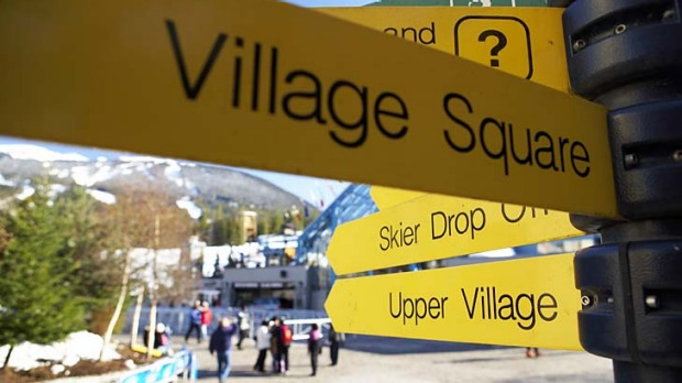 No 'Little Australia' sign? A staggering 34 per cent of Whistler-Blackcomb's workforce is Australian.