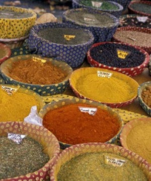 Spices at Arles market.