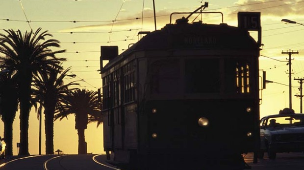 Poetry in motion... A Melbourne tram.