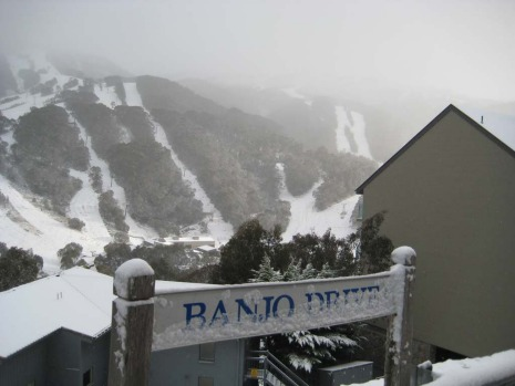 Snow at Thredbo yesterday.