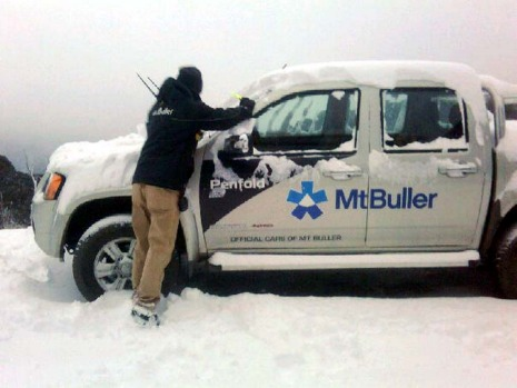 Early snow at Mount Buller.