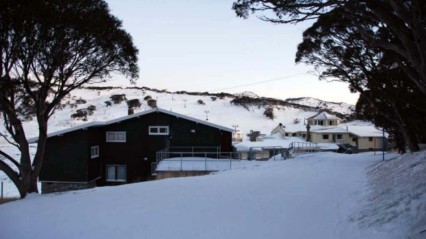 Snow at Perisher this morning.