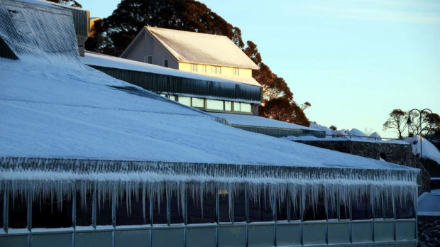 Icicles formed over night at Perisher.