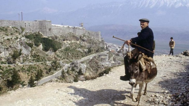 Rugged characters ... donkey travel in Gjirokaster.