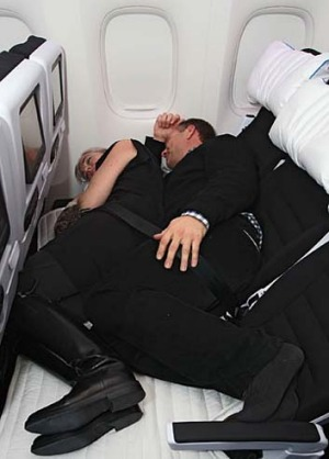 So hot right now ... spooning can get a bit heated on Air New Zealand's SkyCouch.