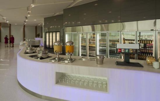 Virgin Australia's new lounge for business and premium passengers at Melbourne Airport.