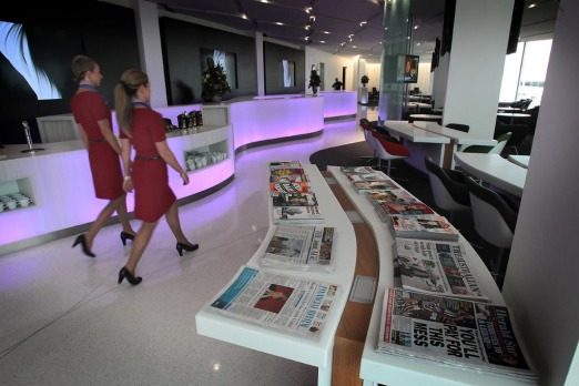 Virgin Australia's new airport lounge at Tullamarine, which opened this week.
