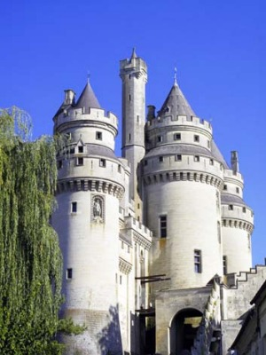 The towers of Chateau de Pierrefonds.