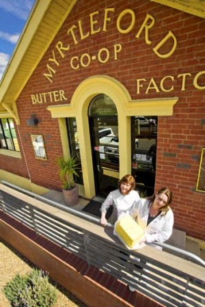 Buttered up ... Myrtleford Butter Factory.