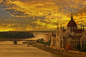 Water under the bridge ... the Hungarian parliament building in Budapest.