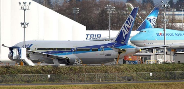 A 787 Dreamliner headed for the aircraft's launch customer, Japan's ANA.
