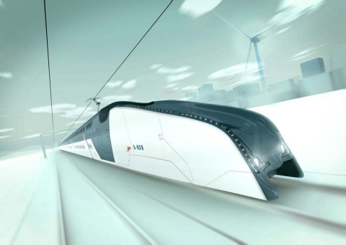 Australian firm Hassell has unveiled designs concepts for a bullet train it calls the Australian High Speed Vehicle (or ...