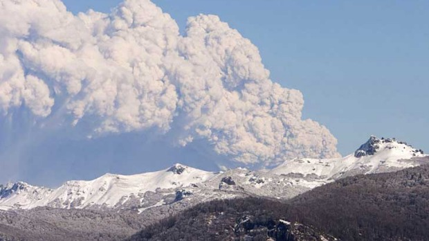 The plume of ash from Chile's Puyehue volcano is causing flight delays over South America, New Zealand and Tasmania.