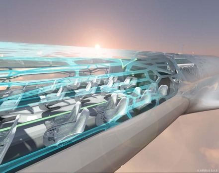 Passengers would be able to see through the fuselage.