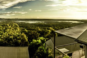 No ocean in sight ... the view from Clear Mountain Lodge.