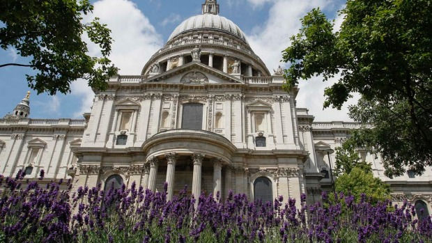 St Paul's Cathedral in London is seen without scaffolding for the first time in 15 years.