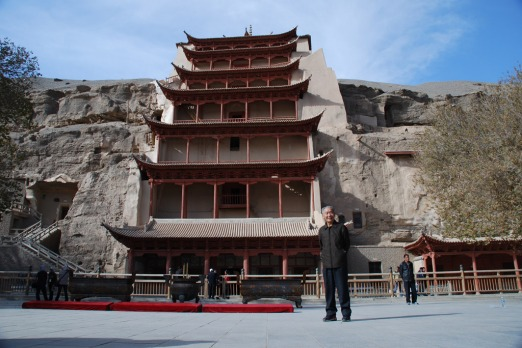 Entrance to the Mogao Caves or Caves of the Thousand Buddhas. Photo: Conrad Walters.