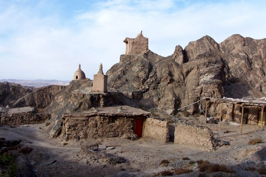 Sanwei Mountain, a few kilometres from the Mogao Caves and Dunhuang. Photo: Joyce Morgan.