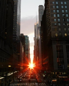 Manhattanhenge is sometimes referred to as the Manhattan Solstice.