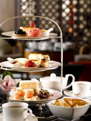 Tuck in ... high tea at Axis at the Mandarin Oriental.