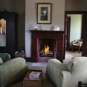 An open fire in the main bedroom.