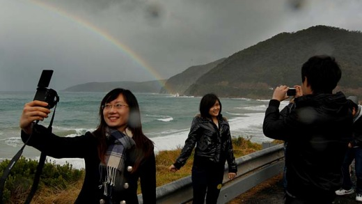 Paulina Fu braves the wintry weather to record memories of the Great Ocean Road.