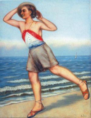 The painting By the Sea by Kliment Redko, which hangs at the Karakalpak Museum in Nukus.