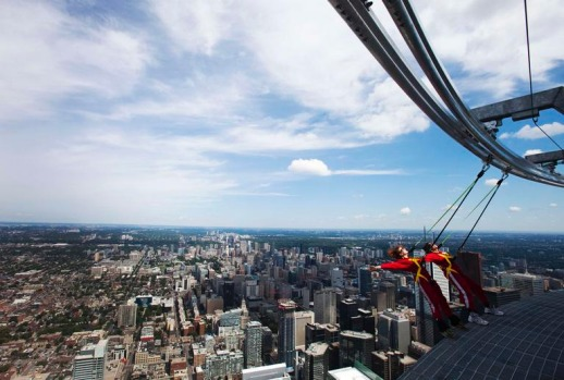 The $3.4 million EdgeWalk is an adrenaline filled excursion around an open-mesh metal walkway almost a quarter of a mile ...