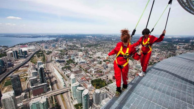 The 553-metre CN Tower, built in 1976, already boasted a glass floor on part of its viewing platform, prompting a how-much-do-you-dare game among its millions of visitors.