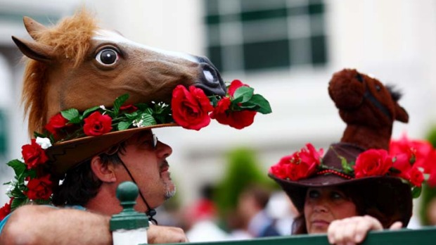 Horse-play ... punters at the Kentucky Derby.