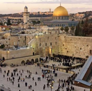 Land of surprises ... the Western Wall and Dome of the Rock at dusk.