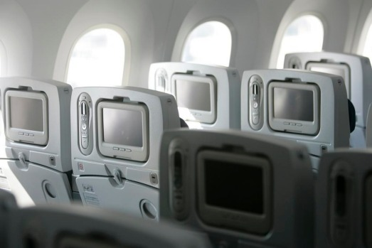 The interior of the first aircraft includes 264 seats -- 12 business and 252 economy -- with personal television sets, ...