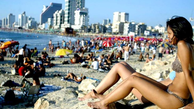 'You're naked most of the time' ... Tel Aviv is a beach city, sun-drenched and bone-dry.