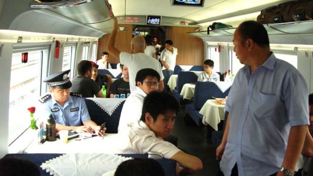 The train's dining car.