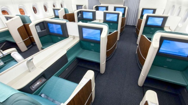 Korean Air's first class seats on the A380.