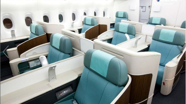 Korean Air claims to have the most spacious fit-out of any airline flying the double-decker A380, with a total of just 407 seats. This compares with Qantas?s 450 seats, Emirates 517 seats and Air France?s 538 seats.