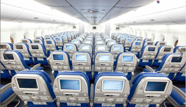 Korean Air claims to have the most spacious fit-out of any airline flying the double-decker A380, with a total of just ...