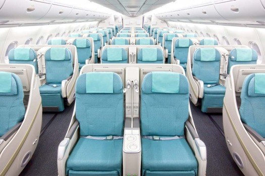 The upper deck is all 'prestige' (business) class with 94 seats.