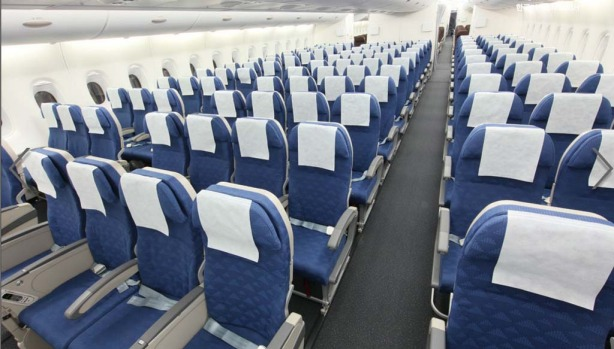 The Korean Air A380 features 12 first class and 301 economy class seats on the first deck. The upper deck is all ...