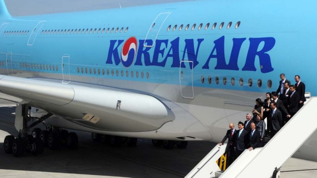 The first Korean A380 during its handover ceremony from Airbus in June.