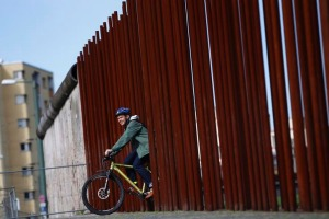 Fascinating ... the 'Berliner Mauerweg' (Berlin Wall Trail) follows the wall's 160-km route.